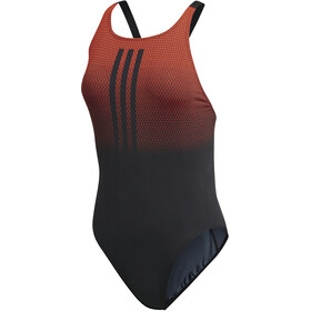 adidas Performance 3-Stripes Placed Print Badpak Dames rood/zwart